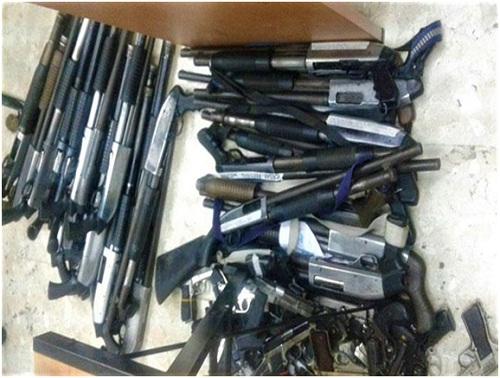 AFoto 91 armas de fuego inucautadas
